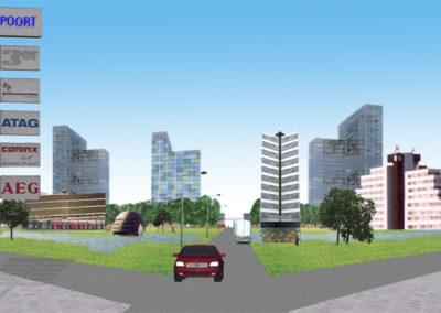Goudse Poort - Impressie centrale groene ruimte