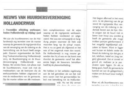 Hollanderwijk - Krantenbericht