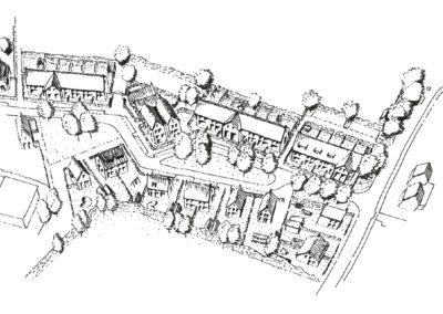 Waterman II - Schets centraal plantsoen